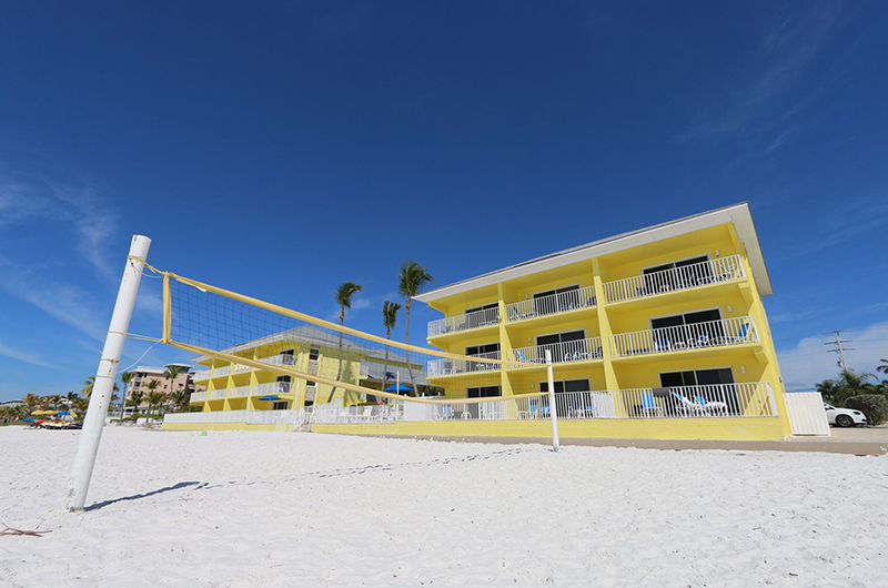 Sandpiper Gulf Resort private beach and volleyball nets