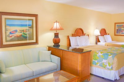 Enjoy gulf front rooms and suites at Sandpiper gulf Resort