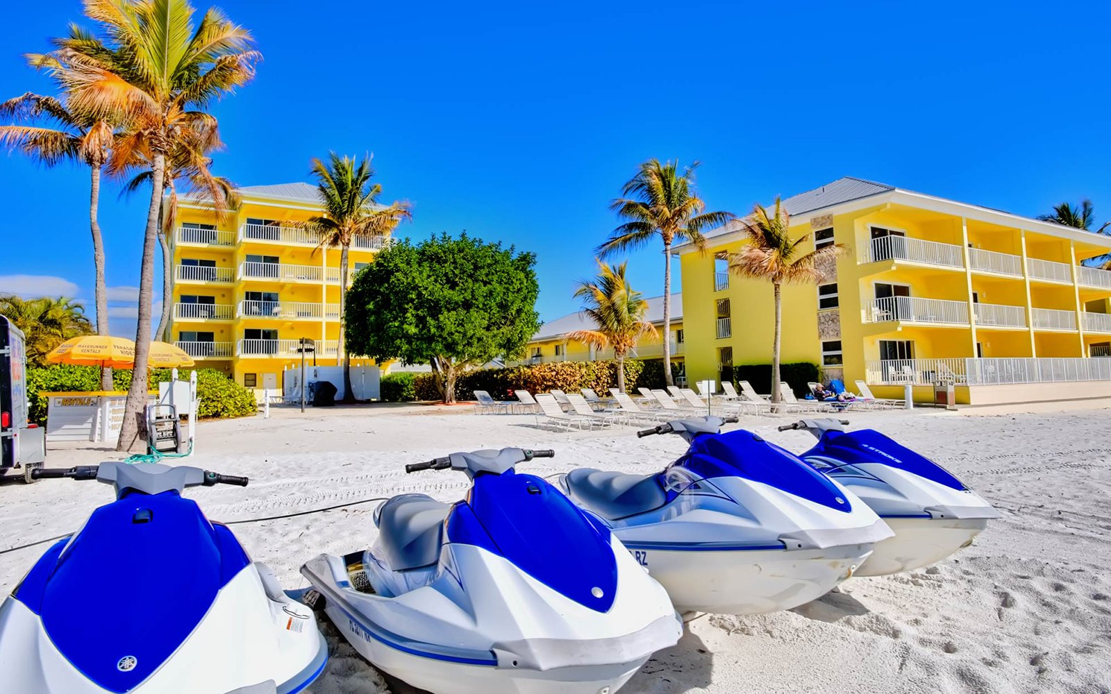 Our Gulf-front resort features water sports, pools, and other amenities for your Fort Myers Beach stay.
